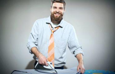 stirare una camicia uomo