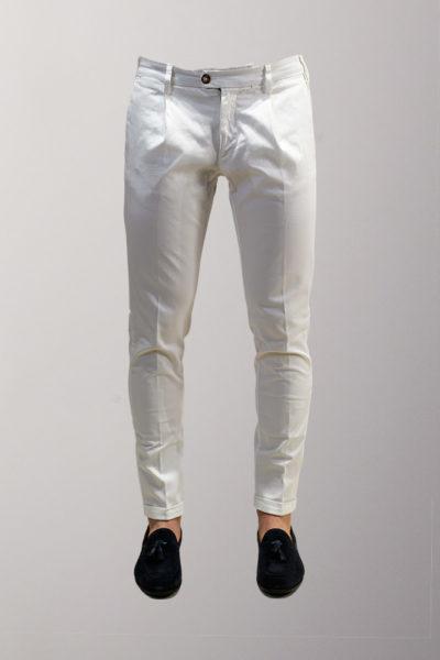 pantalone casual bianco