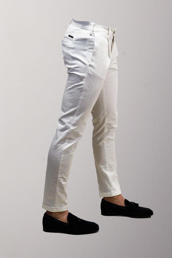 pantalone uomo bianco mr.man